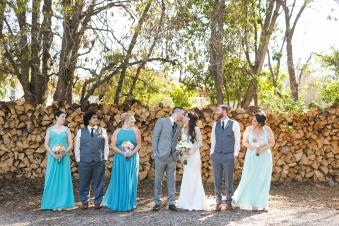 Rachel and Tim's wedding party